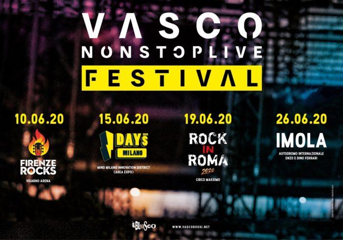 Vasco Rossi: annunciate le date del VascoNonStopLive Festival 2020 2