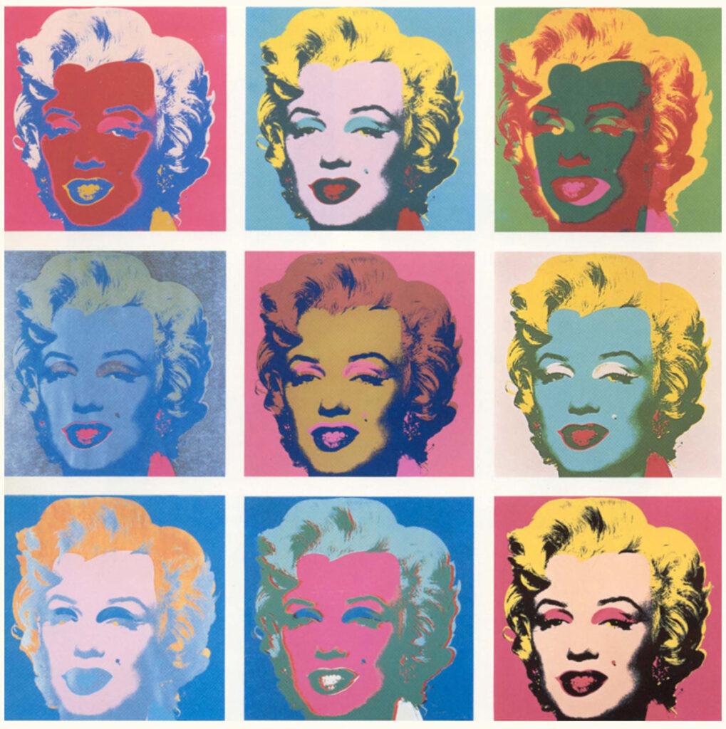 Marilyn Monroe, diva del cinema americano degli anni '60 e musa ispiratrice della PopArt di Andy Warhol 3