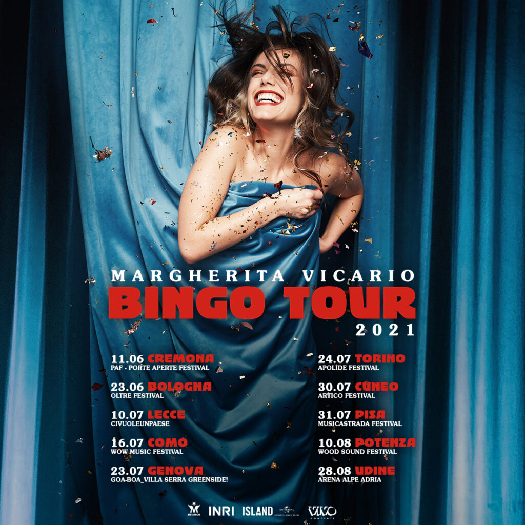 MARGHERITA VICARIO ANNUNCIA LE PRIME DATE DEL BINGO TOUR