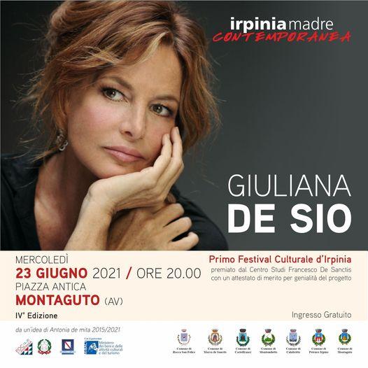 """Giuliana De Sio in scena mercoledì 23 giugno a Montaguto per la IV edizione di """"Irpinia Madre Contemporanea"""""""