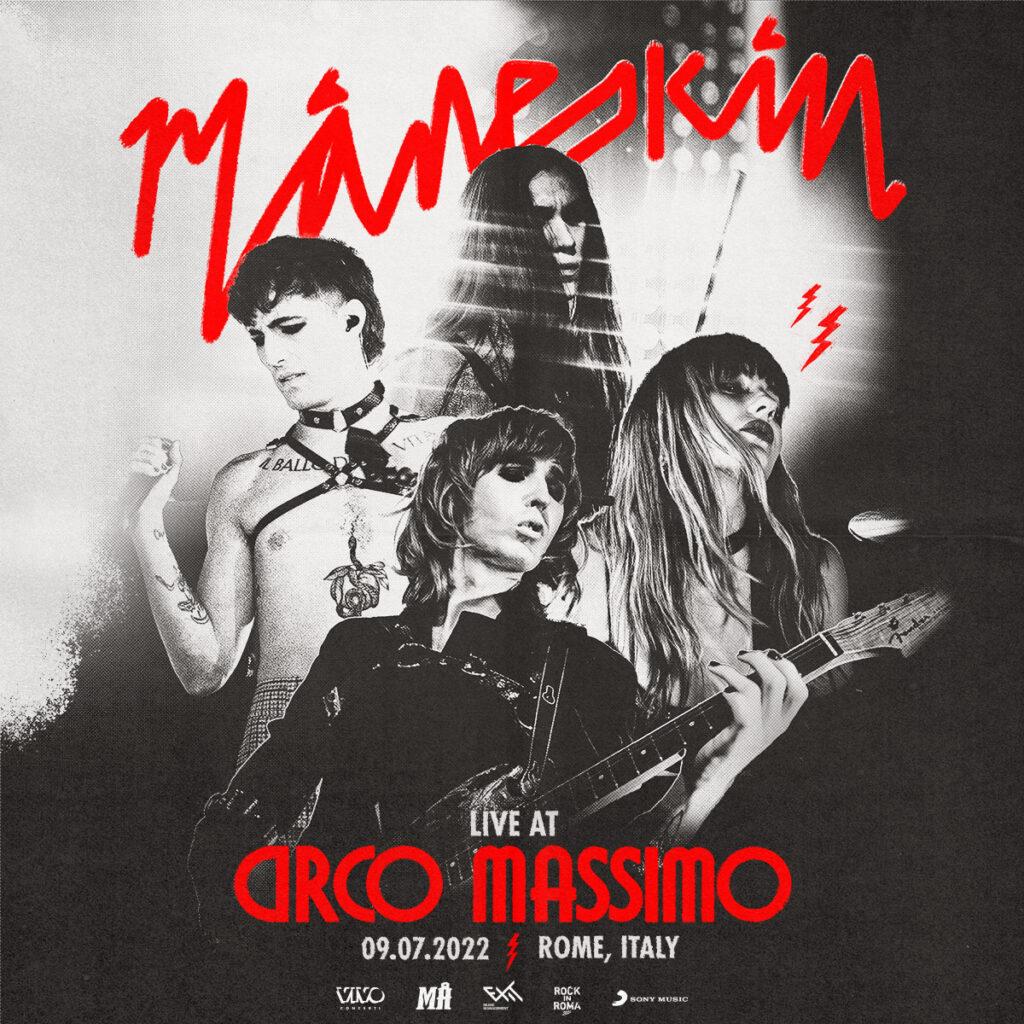 Maneskin, il 9 luglio 2022 al Circo Massimo