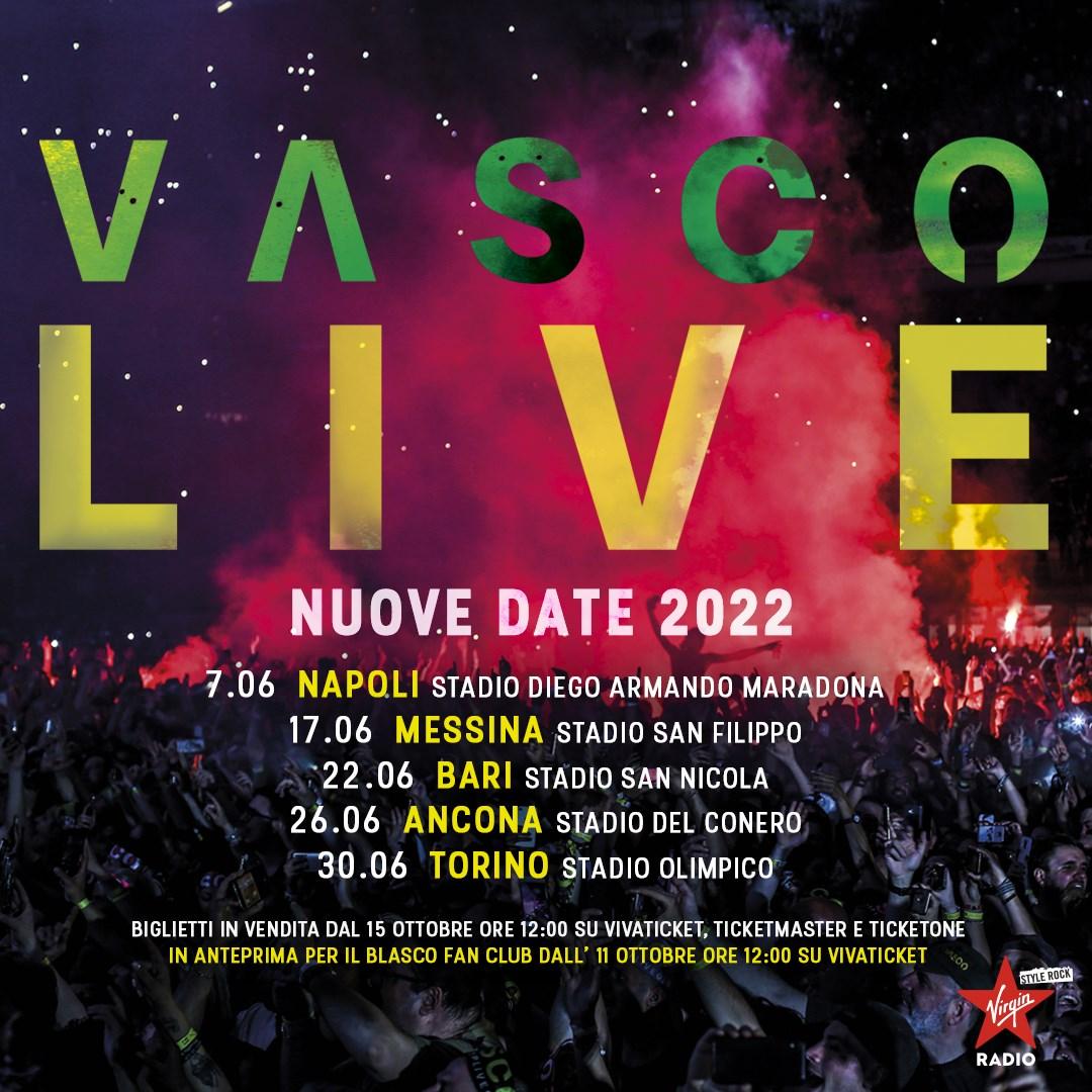 Vasco Rossi, 5 nuove date si aggiungono al tour 2022 1